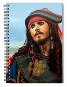 Johnny Depp As Jack Sparrow Spiral Notebook