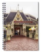 Jolly Holiday Cafe Main Street Disneyland 02 Spiral Notebook