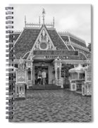 Jolly Holiday Cafe Main Street Disneyland Bw Spiral Notebook