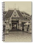 Jolly Holiday Cafe Main Street Disneyland Heirloom Spiral Notebook