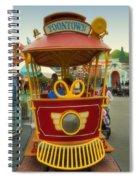 Jolly Trolley Disneyland Toon Town Spiral Notebook