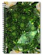 Jonquil Kaleidoscope Under Polyhedron Glass Spiral Notebook