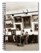 Joseph Kurtz Oliver Artist In His Studio Monterey Circa 1905 Spiral Notebook