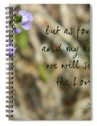 Joshua 24 Spiral Notebook