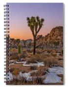 Joshua Tree Dusk Panorama Spiral Notebook