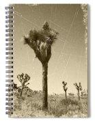 Joshua Tree National Park - Old Vintage Sepia Spiral Notebook