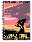 Joshua Tree National Park Vintage Poster Spiral Notebook