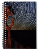 Joshua Tree Star Trails Spiral Notebook