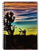 Joshua Trees In Cima Valley Spiral Notebook