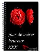 Jour De Meres Heureux Spiral Notebook