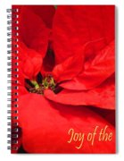 Joy Of The Season Spiral Notebook