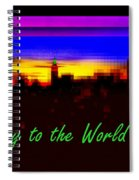Joy To The World - Empire State Christmas And Holiday Card Spiral Notebook