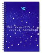 Joyful Hanukkah Card  Spiral Notebook