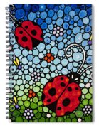 Joyous Ladies Ladybugs Spiral Notebook