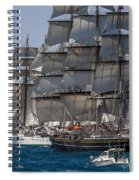 Juan Sebastian Elcano And Stad Amsterdam Spiral Notebook
