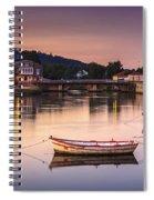 Jubia River Panorama Neda Naron Galicia Spain Spiral Notebook