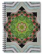 Jubilant Mandevilla Kaleidoscope Pattern Spiral Notebook
