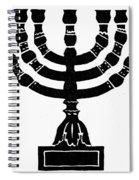 Judaism Candelabra Spiral Notebook