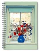 Jug Of Flowers Spiral Notebook