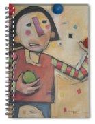 Juggler With Balls  Spiral Notebook