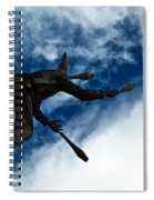 Juggling Statue Spiral Notebook