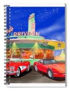 Julies Corvettes Spiral Notebook