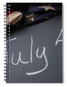 July 4 Sign On Chalkboard Spiral Notebook