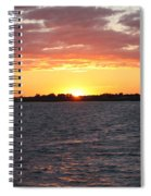 July 4th Sunset Spiral Notebook