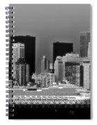 July 7 2014 - Carnival Splendor At New York City - Image 1674-02 Spiral Notebook