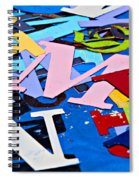 Jumble Of Letters Spiral Notebook