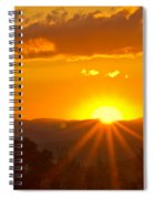 Jump Off Rock Sunset Flare Spiral Notebook