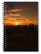 Jump Off Rock Sunset Silhouettes Spiral Notebook