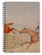 Jumping A Fence Spiral Notebook
