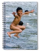 Jumping In The River Spiral Notebook
