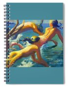 Jumping Mermaids Spiral Notebook