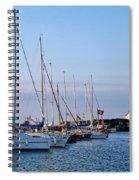 June Morning - Lyme Regis Harbour Spiral Notebook