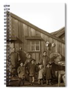 Jung San Choy And Chinese Family Pescadero Village Pebble Beach California Circa 1895 Spiral Notebook