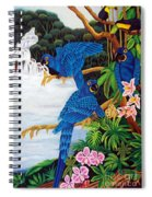 Jungle Chats Hand Embroidery Spiral Notebook
