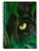 Jungle Eyes - Panther Spiral Notebook
