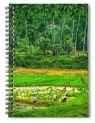 Jungle Homestead - Paint  Spiral Notebook