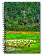 Jungle Homestead Paint Version Spiral Notebook
