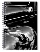 Junkyard Series Old Plymouth Black And White Spiral Notebook