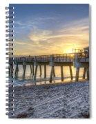 Juno Beach Pier At Dawn Spiral Notebook