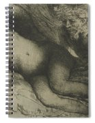 Jupiter And Antiope Spiral Notebook