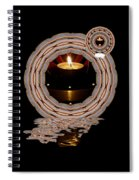 Just A Candle In The Wind Spiral Notebook