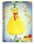 Just A Simple Hat And Dress Spiral Notebook