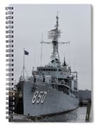 Just Another Battleship Photo Of The Uss Joseph P Kennedy Jr  Spiral Notebook
