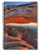 Just Before Sunrise At Canyonlands Spiral Notebook