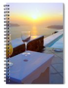 Just Before Sunset In Santorini Spiral Notebook
