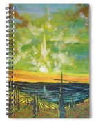 Just Beyond The Sea Spiral Notebook